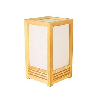 YU-K Lámpara de mesa de tatami de estilo japonés lámpara de ...