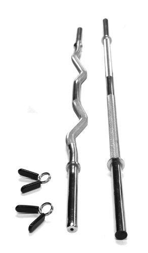 Pumpe Bar 129,5 cm & Curl Bar 119,4 cm Hohl w Halsbänder