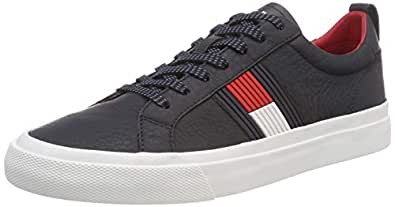 TOMMY HILFIGER Flag Detail Leather Shoes Navy