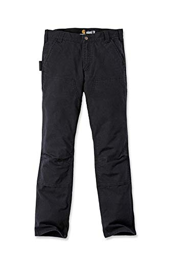 Carhartt Double Pants Men Black Front Stretch Duck IxIrzF