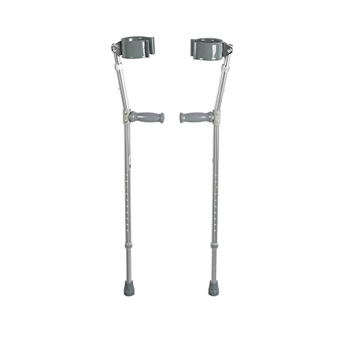 Drive Medical Forearm Crutch, Gray, Adult (1-Pair) Drive Steel Forearm Crutches