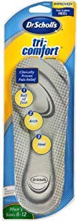 Dr. Scholl's Tri-Comfort Orthotics Inserts, Men's Size 8-12, 1-Pair Packages ()