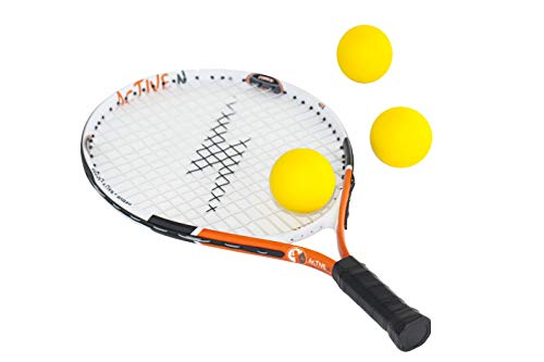 4 active n Tennis Racket for Kids, 19 inches, Includes 3 Foam Tennis Balls (Single)
