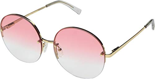 Le Specs Women's Say My Name Round Lens Sunglasses Bright Gold ()