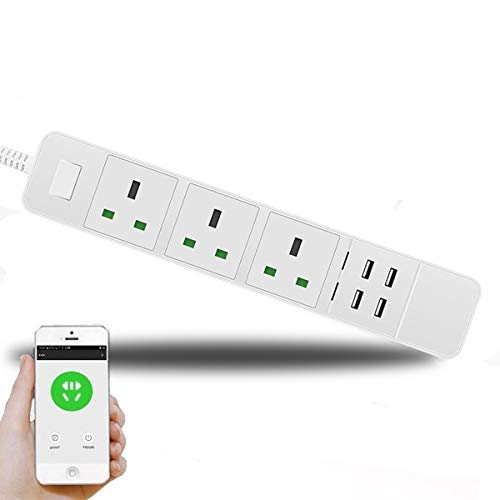 WiFi Smart Extension Cord Lead Power Strip Surge...