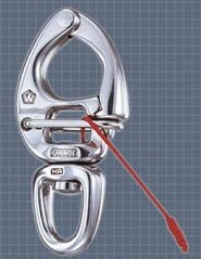 Stainless Steel Quick Release Swivel Eye Snap Shackle - Size: 3 5/32