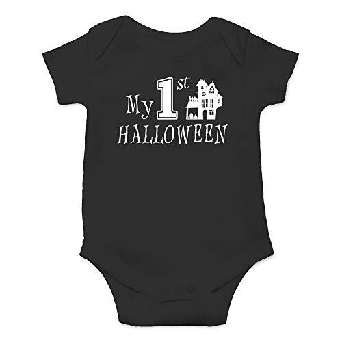 CBTwear My 1st Halloween - Little Pumkin First Hallowe'en Funny Romper Cute Novelty Infant One-Piece Baby Bodysuit (Newborn, Black)
