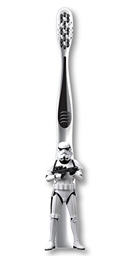 Hazmat Handle - Firefly Star Wars Stormtrooper Sculpted Handle Soft Toothbrush, 1-Count