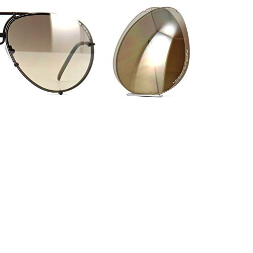 Original Porsche Design Lenses Set Only - For Model P8478-100% Authentic (V756 - Brown Gradient Silver Mirror, 69)