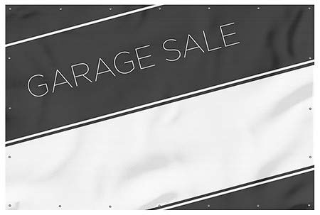 Garage Sale CGSignLab 9x6 Basic Black Heavy-Duty Outdoor Vinyl Banner