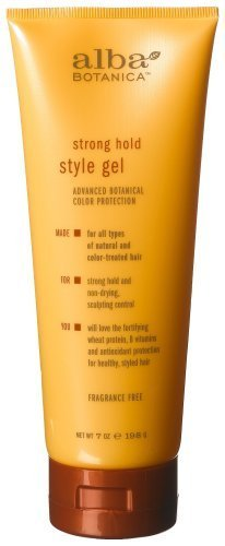 Alba Botanica Advanced, Strong Hold Style Gel, 7 Ounce (Pack of 2) by Alba Botanica