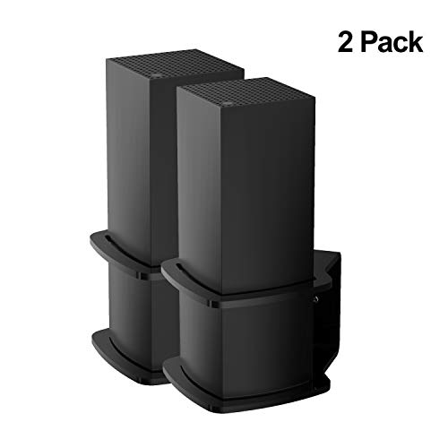 (Pack of 2) YCL Wall Mount Bracket Space-Saving Compatible with Linksys Velop Sturdy Acrylic Wall Mount Stand Holder for Linksys Velop Tri-Band Whole Home WiFi Mesh System,Black