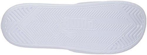 PUMA Mens Popcat Slide Sandal Puma White/Puma Black Spg2k