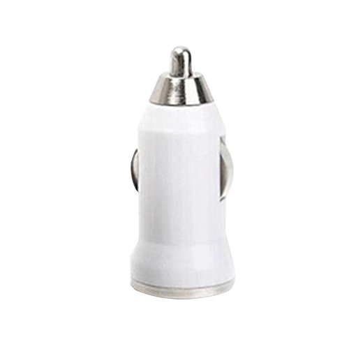 Grebest Car Charger Car Charger Car Charger Portable Universal Mini USB Car Charger Adapter for iPhone Samsung Tablet Pad - White