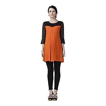 House of Napius Stylish Orange Maternity Tunic, Large