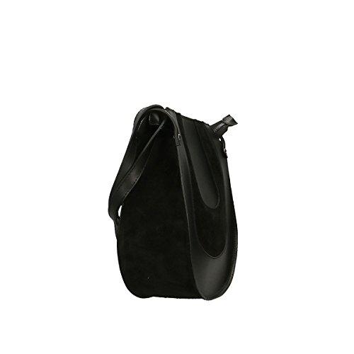 Chicca Borse Bolso en Piel genuina 20x17x7 Cm negro