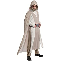 Rubie's Star Wars Episode VIII: The Last Jedi Men's Deluxe Luke Skywalker Costume Beige X-Large