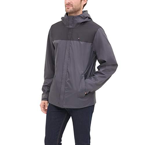 Tommy Hilfiger Men's Lightweight Breathable Waterproof Hooded Jacket