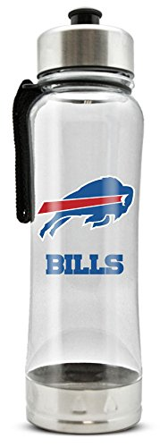 - NFL Buffalo Bills 20oz Clip-On Clear Plastic Water Bottle
