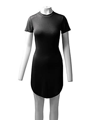 ALL FOR YOU Women's Short Dolphin T-Shirt Dress Made in USA