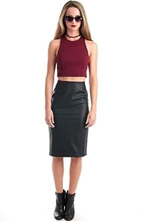 Hipster Black Lace Straight Skirt For Women