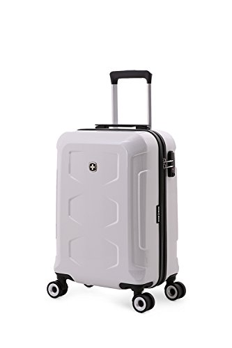 "SwissGear Polycarbonate Gold 20"" Hardside Spinner, White"