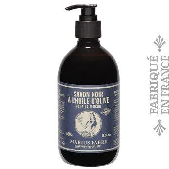 Marius Fabre Savon noir liquide à l'olive - Schwarze Olivenöl-Flüssigseife - 500 ml