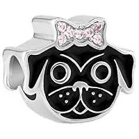 Charm Cachorro Pug De Lacinho - Jolie