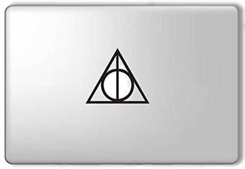Price comparison product image Deathly Hallows Symbol Harry Potter - Apple Macbook Laptop Vinyl Sticker Decal