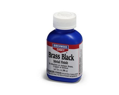 - Birchwood Casey Brass Black Metal Finish, 3-Ounce