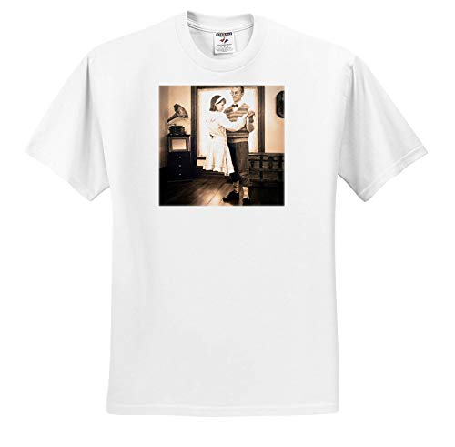 Scenes from The Past - Stereoview - Levitating Girl Dancing Creepy Halloween Stereoview Card Image Vintage - T-Shirts - Youth T-Shirt XS(2-4) (ts_301277_11) ()