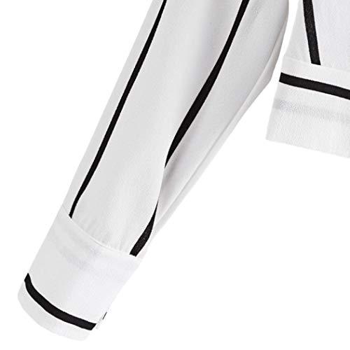 Manches Blanc boutonn 3 Femme Imprim Bandeau Animal Women 4 Col Chemisier Kanpola q0aHCa