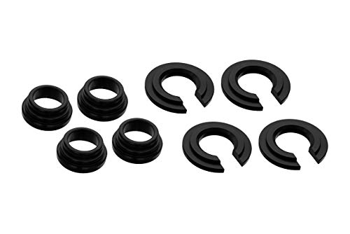 PitVisit Aluminum Subframe Spacer Kit Bushing Collars Set Compatible with Nissan 240SX 300ZX S13 S14 S15 Z32 (Black)