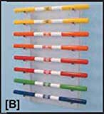 FEI 10-1642 Fabrication Cando Wall Rack for Exercise Weight Bar, 8 Bar Horizontal
