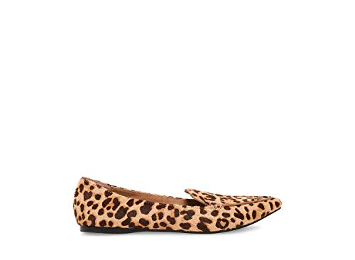 Steve Madden Women's FEATHERL Loafer Flat, Leopard, 8 M US