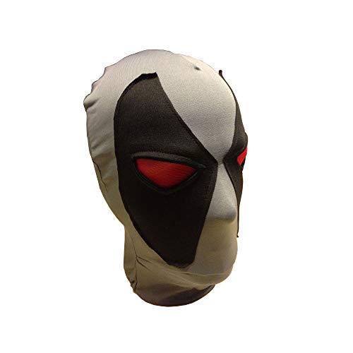DP2 Wade Mask Cosplay Helmet Full Head Lycra Spandex Grey Helmet Halloween Costume Prop Fancy Ball Mask -
