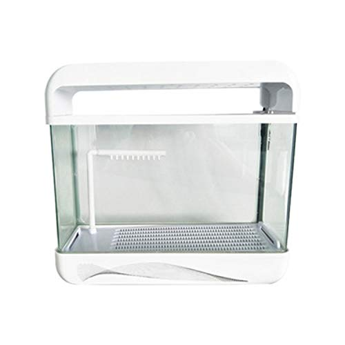 LOVEPET Aquarium Turtle Tank with Drying Platform Creative Small Fish Tank