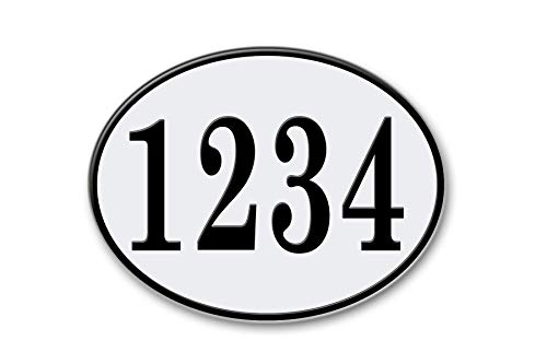West Coast Curb-N-Sign Oval Reflective Address Plaque (White) by West Coast Curb-N-Sign (Image #6)