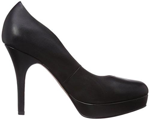 Tamaris 22419 - zapatos de tacón cerrados de cuero mujer negro - Schwarz (Black Leather 003)