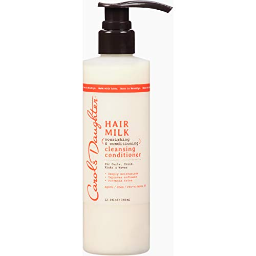 Curly Hair Products by Carol's Daughter, Hair Milk Sulfate Free Cleansing Conditioner For Curls, Coils and Waves, with Agave and Shea Butter, Sulfate Free Co Wash, 12 Fl. Oz (Packaging - Daughter Carols Wash