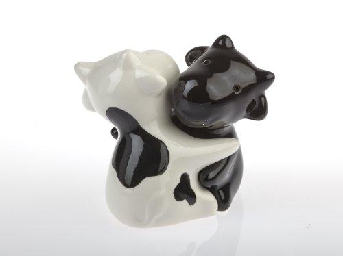 by-Bers Kuh Umarmung, Bulle, Rindvieh, auch als Frosch, Maus, Hund, Tiere, Salzstreuer, Salz- und Pfefferstreuer Set als Geschenk, aus Keramik (Kuh)