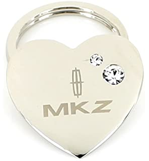 Amazon.com: Ford Mustang Heart Shape Keychain W/2 Swarovski ...