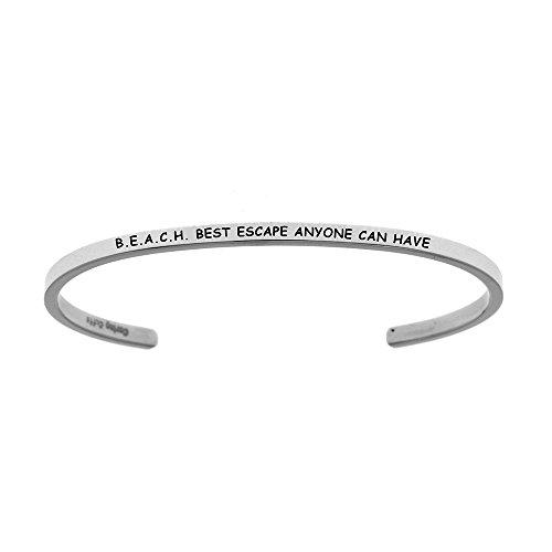 """Soin poignets """"b.e.a.c.h. Best Escape toute personne peut avoir Bracelet empilables"""