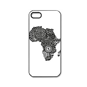 iphone Funda de - de mapa de Sudáfrica de plástico Carcasa rígida para iphone 5/5S