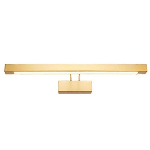 (ALWUD Mirror Front lamp, LED Bathroom Vanity Lights Fixture - Gold Simple Make-up Wall Light Sconce Mirror Light,9W/16 Inch)