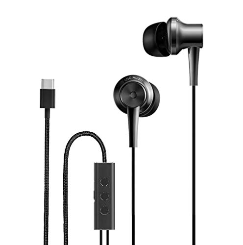 Original Xiaomi ANC Earphone Type-C Noise Cancelling Earphone Wired Control with MIC for Xiaomi Max 2 Mi6 Smartphone Hybrid HD