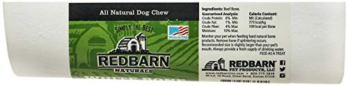 REDBARN NATURALS White Bone Large Dog Chew, Real femur ()