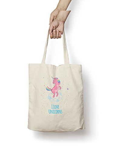 Cotton Unicorns Bag Love I Gift Funny Natural Novelty Tote Shopper 5S7XwUqwt