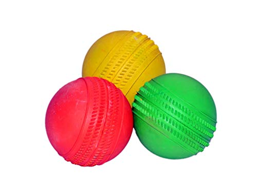 PREM SAGAR Heavy Weight Rubber Tennis Balls Set of 3 in Assorted Colours