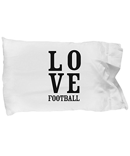 DesiDD Gifts for Football Lovers Kids Fans Players Boys Girls Coaches Men Footballer - Gifts for Soccer Mom Team Coach Funny Gag Football Lovers Pillow Case by DesiDD